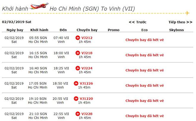 Hai tháng trước Tết, vé máy bay đã hết trên nhiều chặng-1