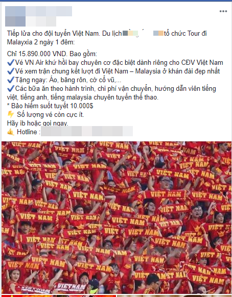 Tour đi Malaysia cổ vũ đội tuyển Việt Nam trong trận chung kết với mức giá lên đến 16 triệu/người-3