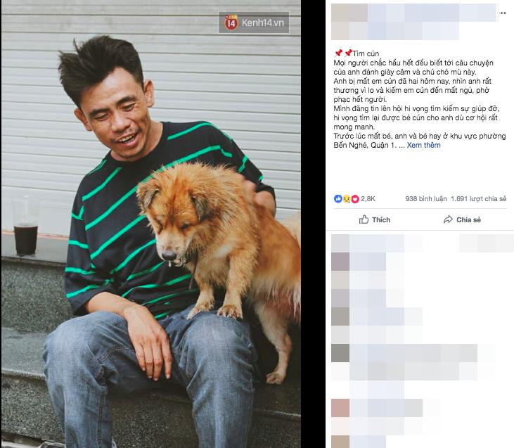 Điều kỳ diệu đã xuất hiện: Chú chó mù trở về bên anh đánh giày câm sau hơn nửa tháng mất tích-3