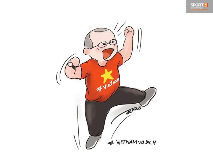 Bộ tranh chibi cute hết cỡ về hành trình của tuyển Việt Nam tại AFF Cup 2018-4