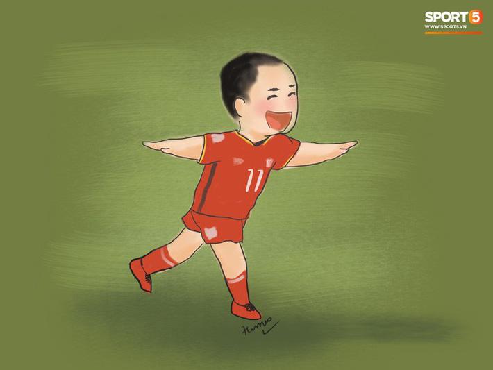 Bộ tranh chibi cute hết cỡ về hành trình của tuyển Việt Nam tại AFF Cup 2018-7