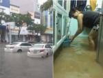 Hà Nội: Phố tây Tạ Hiện - Lương Ngọc Quyến mênh mông nước, nhiều cặp đôi phải cõng nhau di chuyển-17