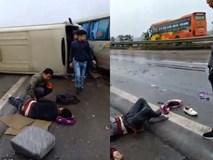 Tai nạn trên cao tốc Nội Bài - Lào Cai, nhiều nạn nhân văng xuống đường nằm la liệt trên quốc lộ