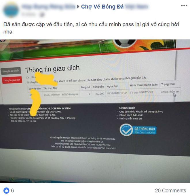 Vé trận Việt Nam vs Malaysia được rao đắt gấp 10 trên chợ đen-1