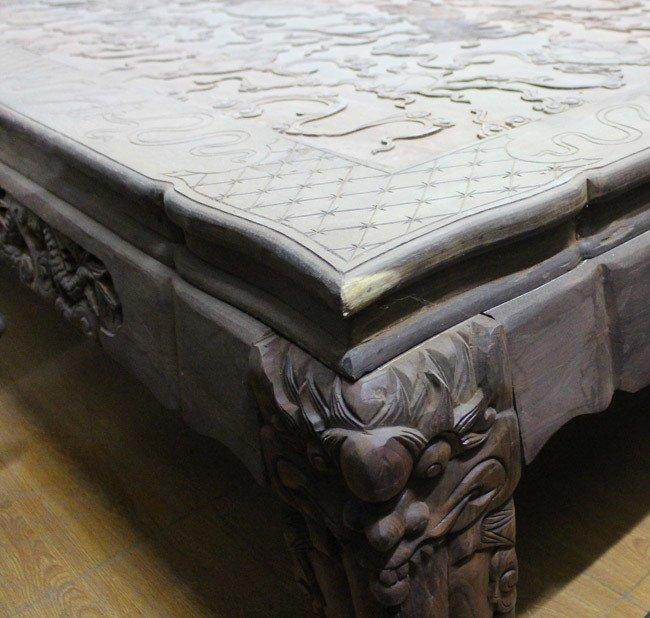 Bộ bàn ghế gỗ trắc nặng 8 tạ, đại gia trả 3,2 tỷ chủ nhân vẫn chưa bán-11