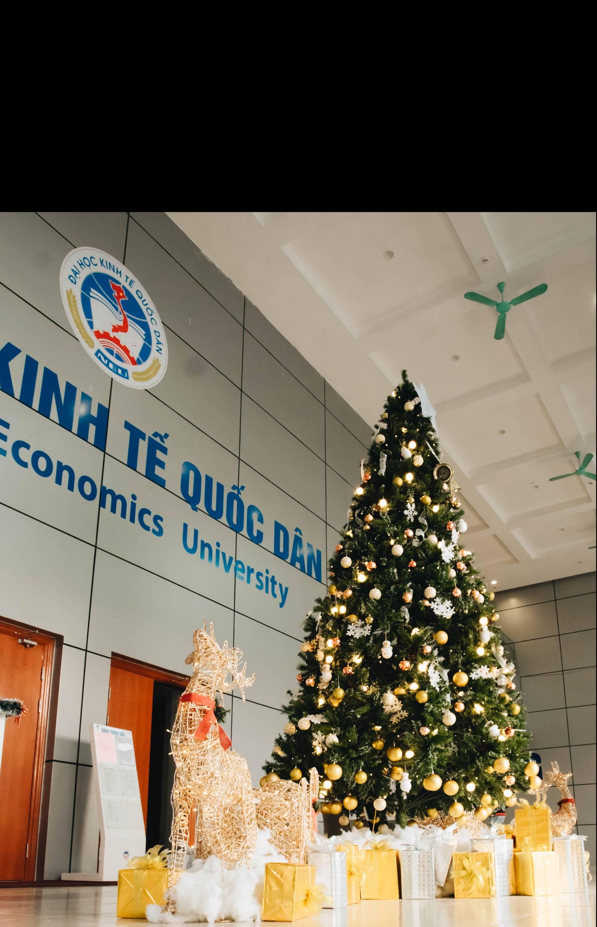 Xịn như Kinh tế Quốc dân: Dựng không gian checkin Noel sang như khách sạn bên trong toà nhà thế kỷ 96.000 m2 với 17 thang máy!-3