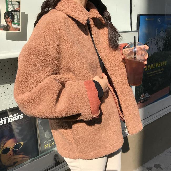 Áo khoác Teddy - chiếc áo khoác mềm mịn như gấu bông chính là item ấm nhất, dễ thương nhất mà bạn nên sắm đông này-2