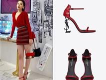 Không chỉ nhiều áo phông và túi hiệu, Kỳ Duyên còn sở hữu bộ sưu tập giày đắt đỏ