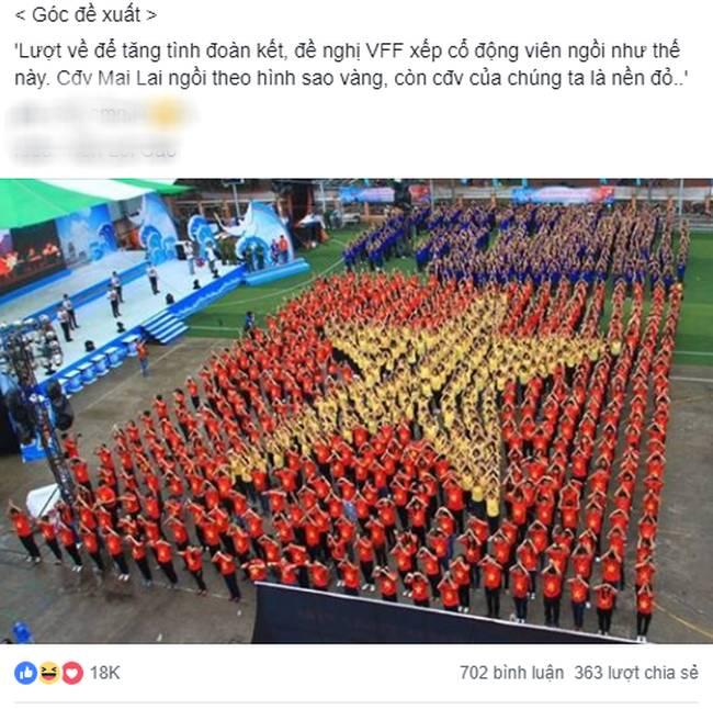 Lầy như CĐV Việt: Đề nghị xếp chỗ cho CĐV Malaysia ngồi theo hình ngôi sao 5 cánh giữa rừng cờ đỏ ở Mỹ Đình-3