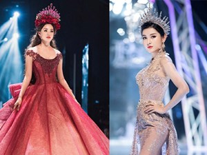 Tiểu Vy, Huyền My, Đỗ Mỹ Linh 'bất phân thắng bại' trên sàn catwalk