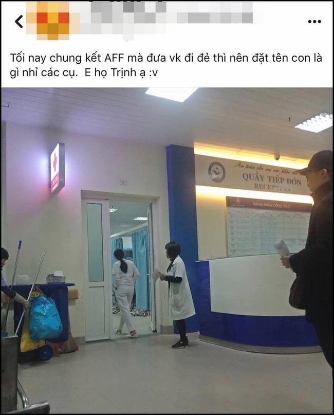 Vợ đẻ đúng ngày chung kết AFF Cup, bố trẻ họ Trịnh nhận cái kết bất ngờ khi nhờ dân mạng đặt tên cho con-1