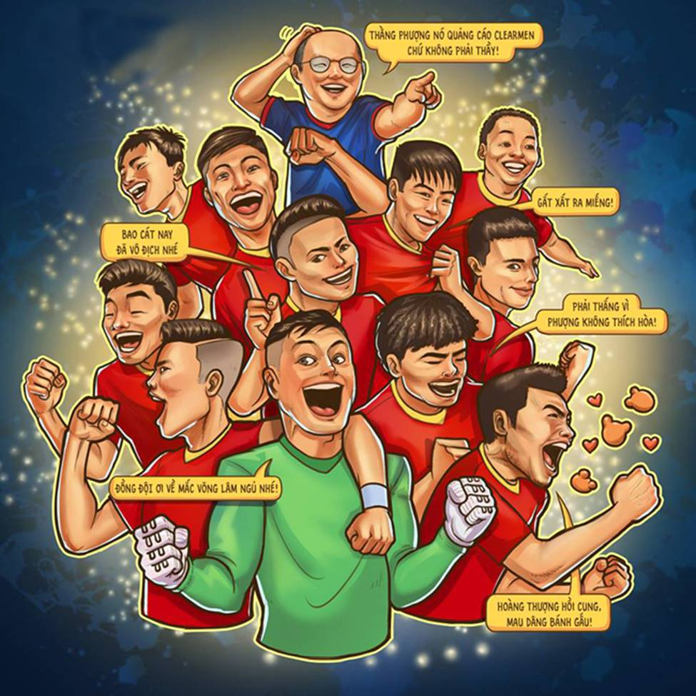 Ảnh chế ăn mừng chức vô địch AFF Cup 2018 của đội tuyển Việt Nam-2