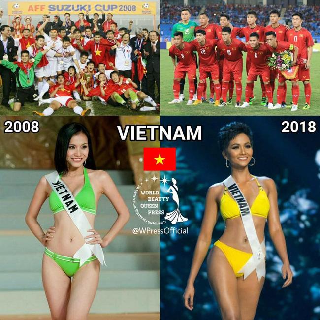 Vận đỏ của bóng đá Việt Nam sẽ giúp HHen Niê làm nên kì tích tại Miss Universe 2018?-1