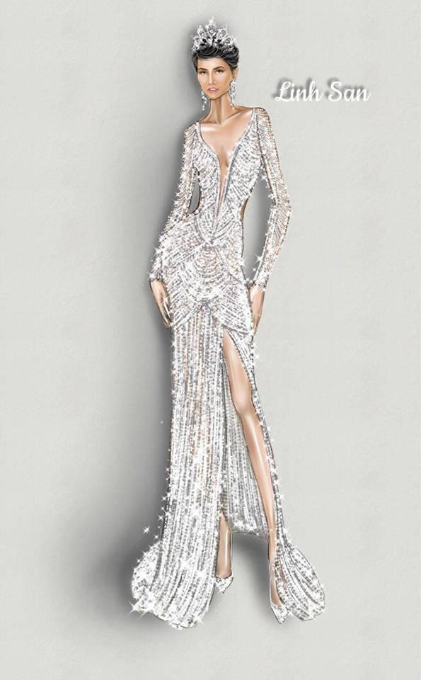 Cận cảnh chiếc váy 3000 viên đá quý như kim cương giúp HHen Niê làm nên kỳ tích-7