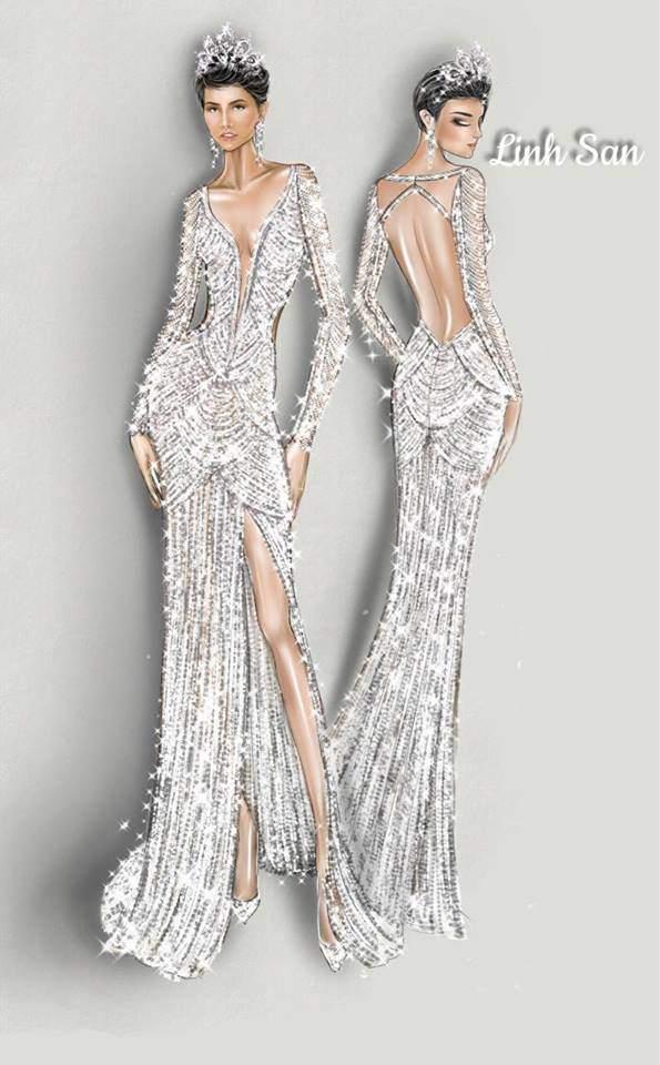 Cận cảnh chiếc váy 3000 viên đá quý như kim cương giúp HHen Niê làm nên kỳ tích-8