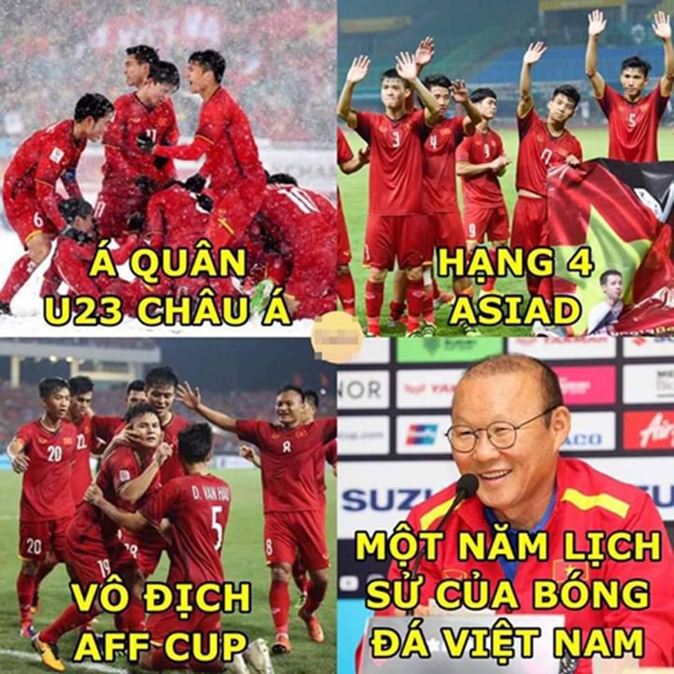 Mạng xã hội ngập tràn ảnh chế ăn mừng Việt Nam vô địch AFF Cup 2018