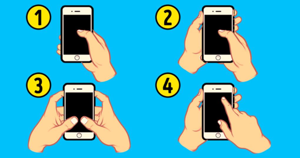 Cách cầm điện thoại thông minh có thể nói nhiều về tính cách của bạn-1