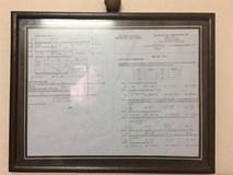Lần đầu được 5.2 điểm thi môn Toán, nữ sinh đóng khung treo lên tường để ghi nhận
