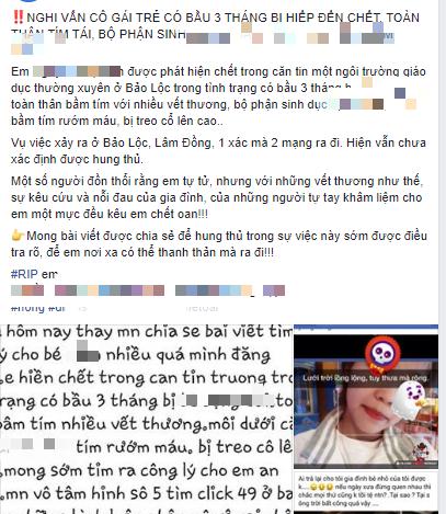 CA Lâm Đồng thông tin vụ cô gái mang thai 3 tháng tử vong nghi bị cưỡng hiếp-1