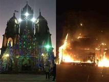 Mô hình hang đá nhà thờ cao 20 m cháy trước thềm Giáng sinh