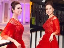 Jennifer Phạm mặc váy đỏ rực 'khuấy động' không khí Giáng sinh