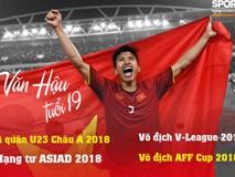 Đoàn Văn Hậu thắng giải Cầu thủ trẻ xuất sắc nhất năm 2018