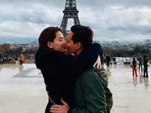Kim Lý hôn Hồ Ngọc Hà đắm đuối dưới tháp Eiffel