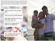 Chồng bế con 2,5 tháng sang hàng xóm ti trực để vợ đi làm tóc cùng lời nhắn khiến vợ trào nước mắt
