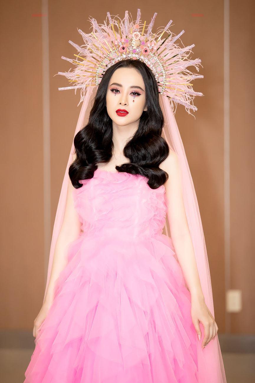 Angela Phương Trinh diện cả cây hồng rực gây náo loạn thảm đỏ-4