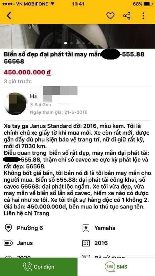 Người phụ nữ rao bán xe máy 30 triệu có biển số đại phát tài: Đủ 8 tỷ thì liên hệ với chị-1