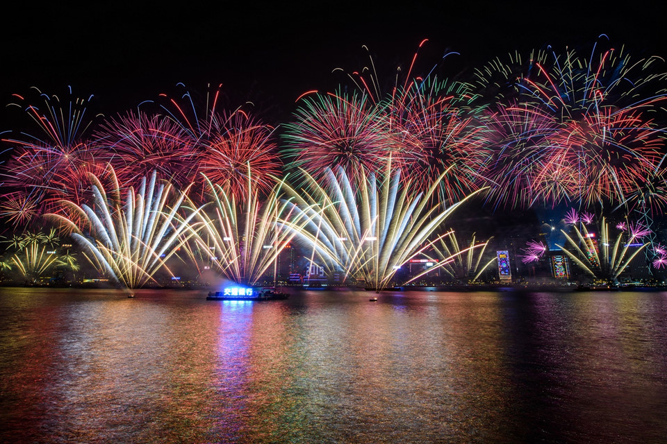 Đại tiệc pháo hoa trên bầu trời châu Á chào đón năm mới 2019-9
