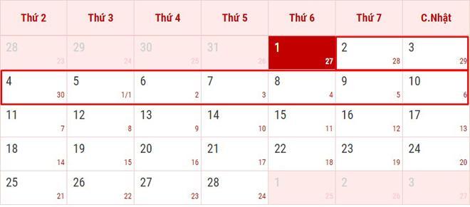 Thông tin chính thức lịch nghỉ Tết Âm lịch 2019-1