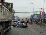 Vụ container tông hàng loạt xe máy: Chiếc xe điên lao như sóng thần-3