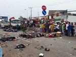 Nạn nhân vụ container tông nhiều xe máy ở Long An chuyển tới BV Chợ Rẫy đã lên 14 người-16