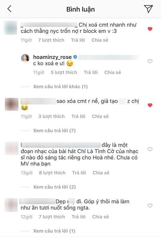 Hòa Minzy gây tranh cãi vì quá gay gắt trước lời khuyên chân thành của fan-4