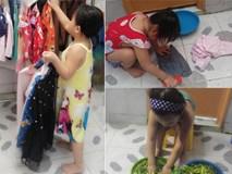 Dạy con làm việc nhà từ năm 2 tuổi, 4 tuổi bé gái đã biết làm mọi việc giúp mẹ, ai cũng phải trầm trồ