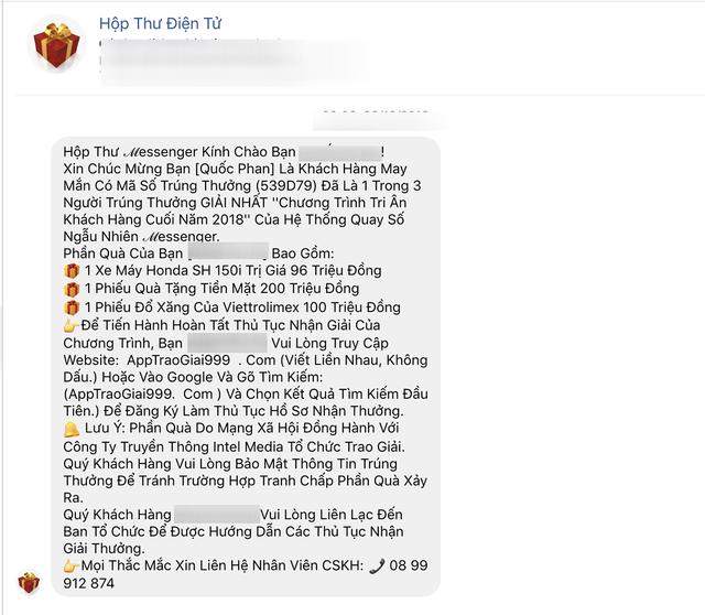Lừa đảo trúng thưởng Honda SH trên Facebook bùng phát dịp cận Tết-1