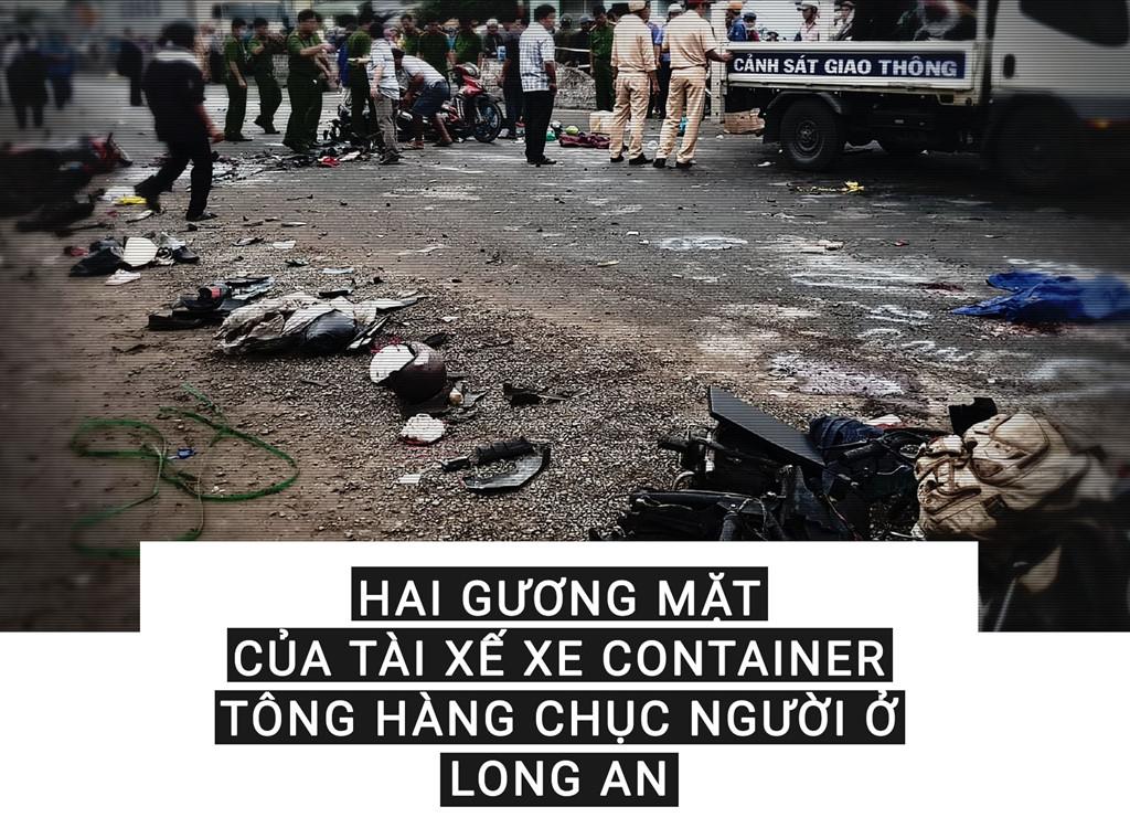 Hai gương mặt của tài xế xe container tông hàng chục người ở Long An-1