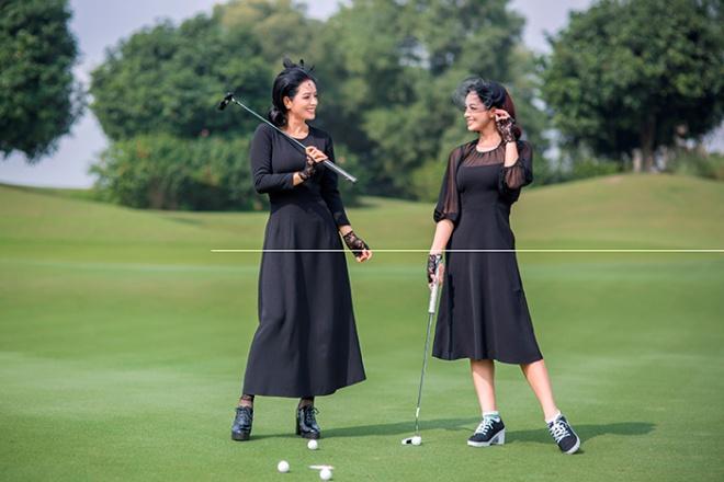 Thúy Hằng - Thúy Hạnh cổ điển và sang trọng khi hóa thân làm golf thủ-10