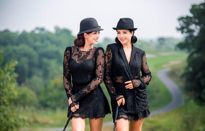 Thúy Hằng - Thúy Hạnh cổ điển và sang trọng khi hóa thân làm golf thủ-11