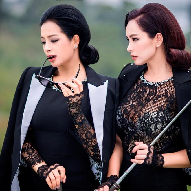 Thúy Hằng - Thúy Hạnh cổ điển và sang trọng khi hóa thân làm golf thủ-9