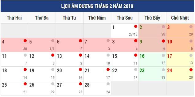 Lịch nghỉ Tết Nguyên đán và các ngày lễ trong năm 2019-1