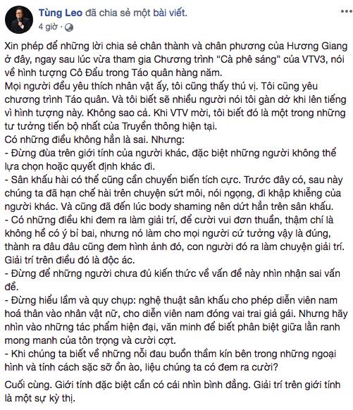 Phản ứng của đạo diễn Đỗ Thanh Hải khi MC Tùng Leo chỉ trích Táo quân-3