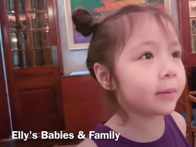 Elly Trần quay clip con gái nói chuyện, không ngờ Cadie vô tư để lộ về bố trong clip-2