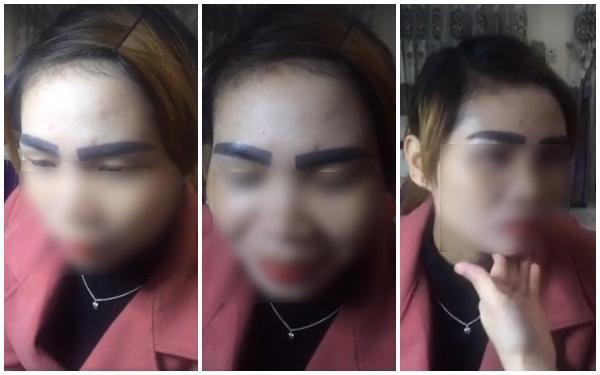 Thảm họa phun xăm lông mày của cô trung niên khiến dân mạng dù thương vẫn chẳng thể nhịn cười-3