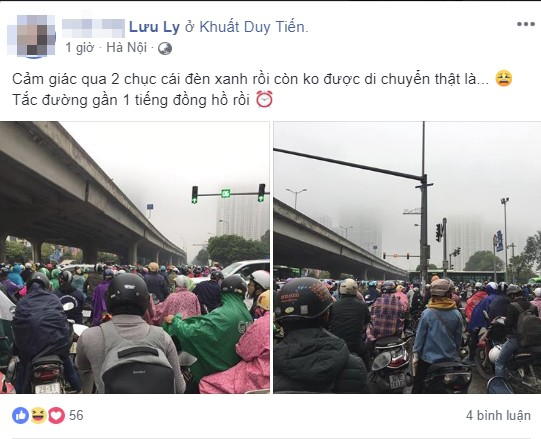 Tắc đường kinh hoàng ở Hà Nội sáng nay: Qua 20 cái đèn xanh rồi mà vẫn không thể di chuyển-4