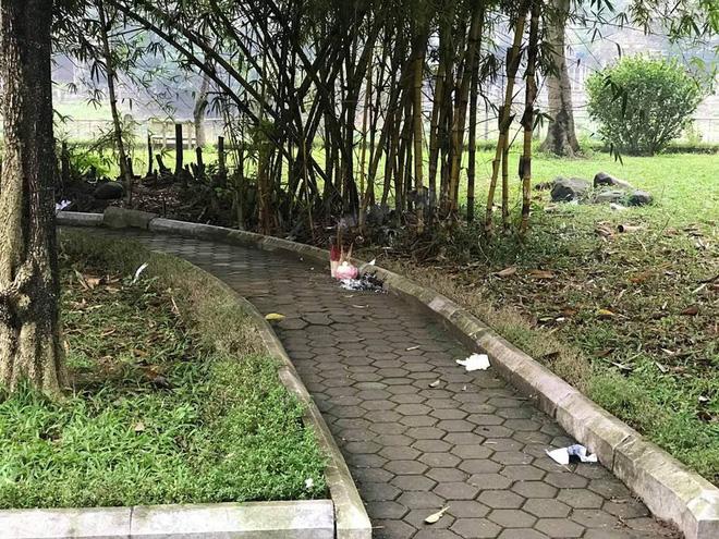 Phát hiện thi thể một phụ nữ không mặc quần trong vườn hoa ở Hà Nội-2