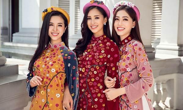 Top 3 HH Việt Nam 2018 khoe nhan sắc thanh xuân rực lửa với áo dài-1
