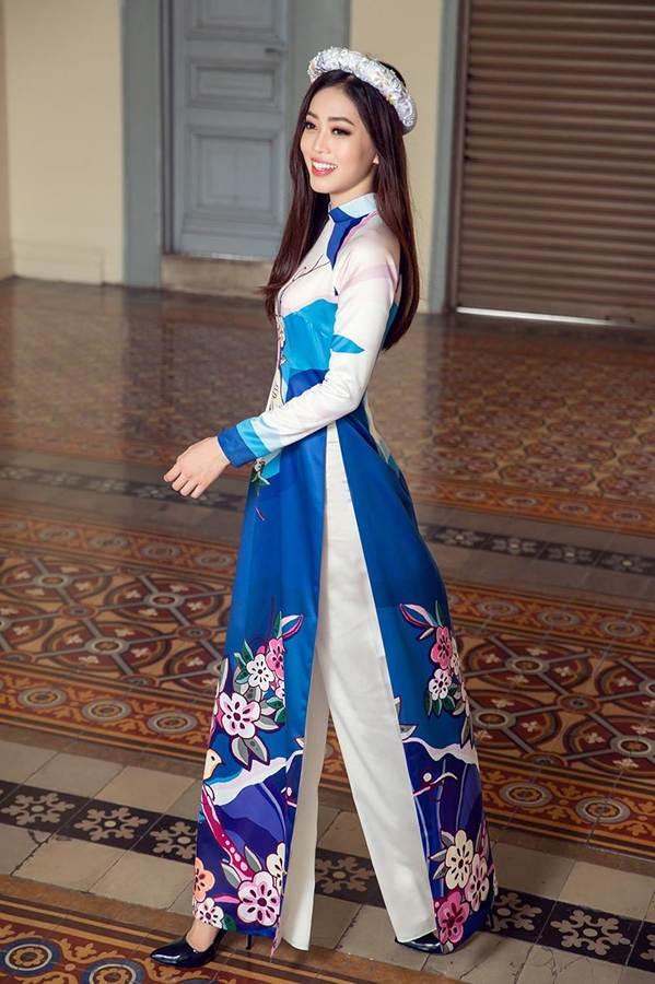 Top 3 HH Việt Nam 2018 khoe nhan sắc thanh xuân rực lửa với áo dài-5
