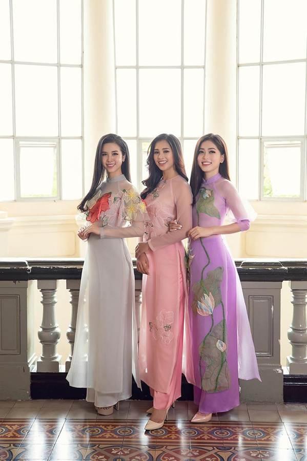 Top 3 HH Việt Nam 2018 khoe nhan sắc thanh xuân rực lửa với áo dài-8